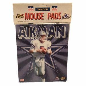 Vintage 1998 TROY AIKMAN Dallas Cowboys mouse pad